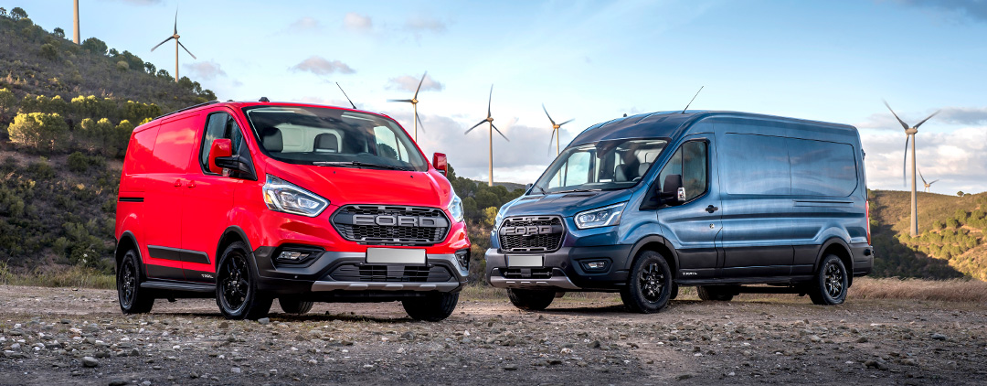 Ford announces new trail variants to the Transit and Transit custom models